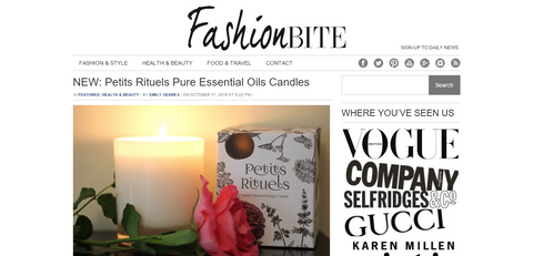 Fashion Bite Blog review of Petits Rituels candles.
