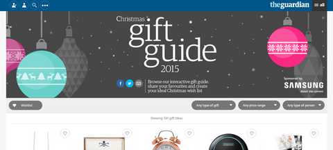The Guardian Christmas Gift Guide 2015 featuring Petits Rituels By The Fire wax melts.