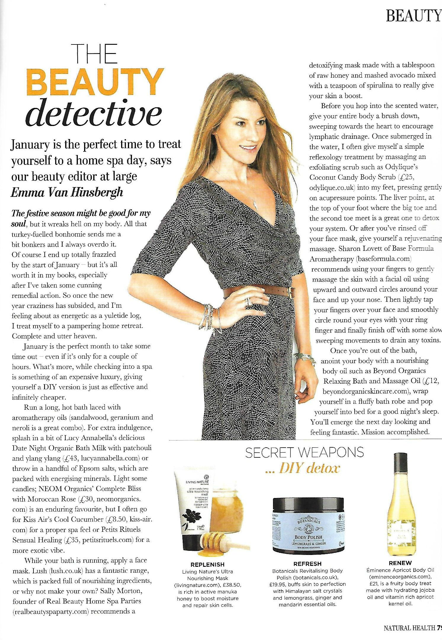 NH Magazine The beauty Detective.