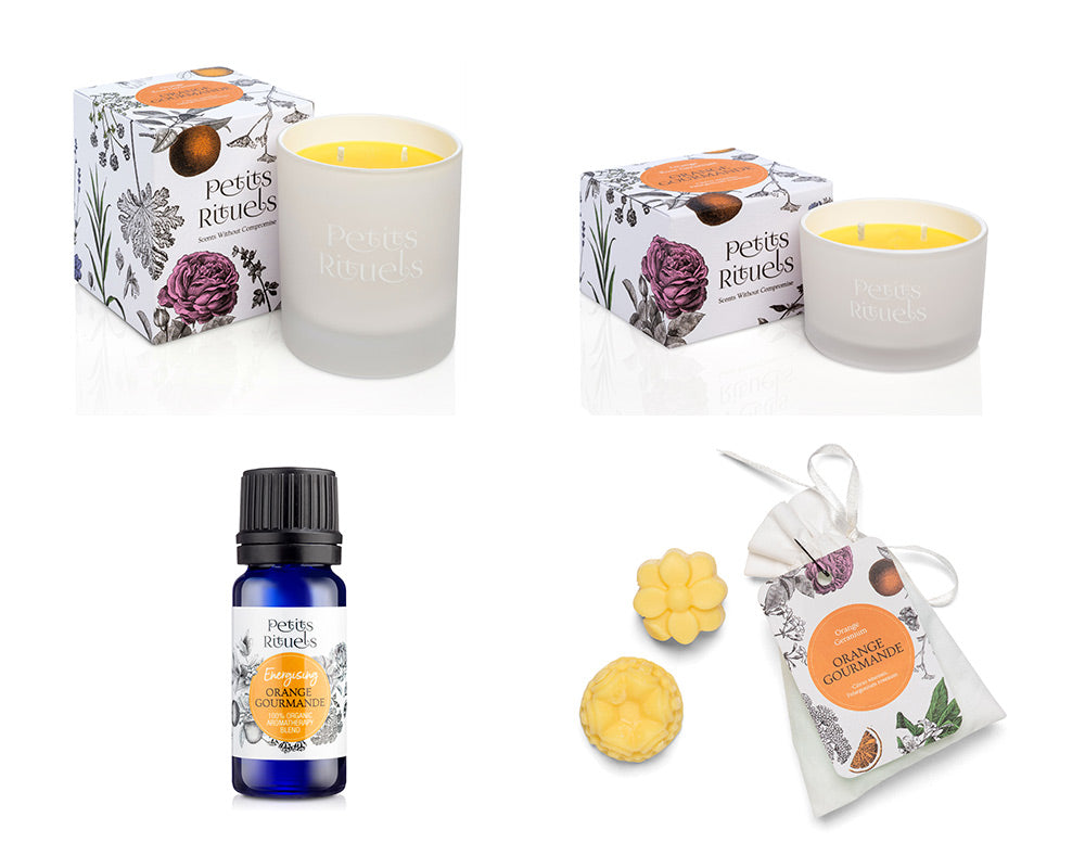 Petits Rituels Orange Gourmande Home Fragrance collection.