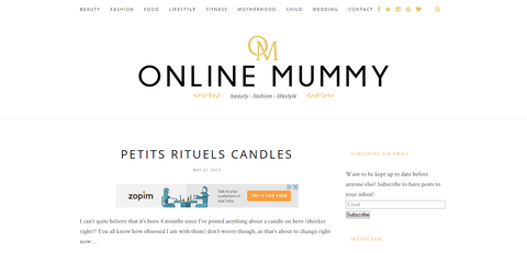 Online Mummy's review of Petits Rituels candles.