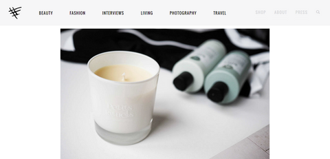 Stylonylon blog feature of Petits Rituels By The Fire candle.