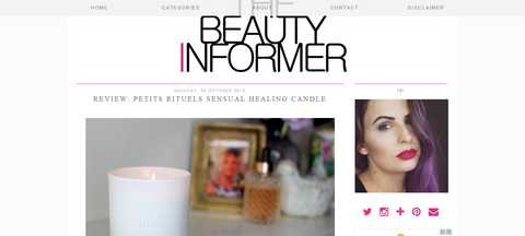 The Beauty Informer's review of Sensual Healing candle.