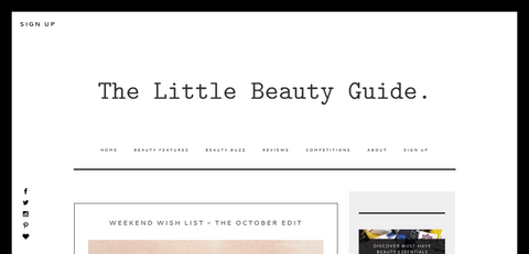 The Little Beauty Guide Weekend Wish List - The October List