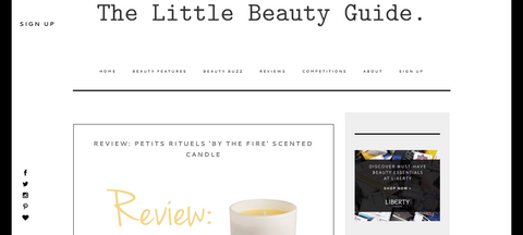 The Little Beauty Guide Review of Petits Rituels By The Fire candle.