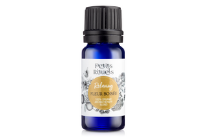 calming essential oil blend of Petitgrain, Rose Geranium and French Lavender essential oils.