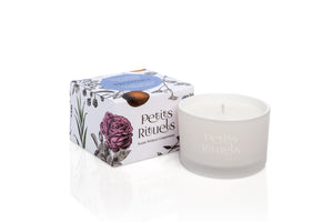 Lavender scented travel candle.