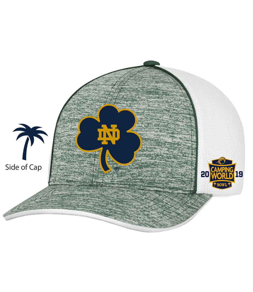 2019 Camping World Bowl Notre Dame Green/White Hat