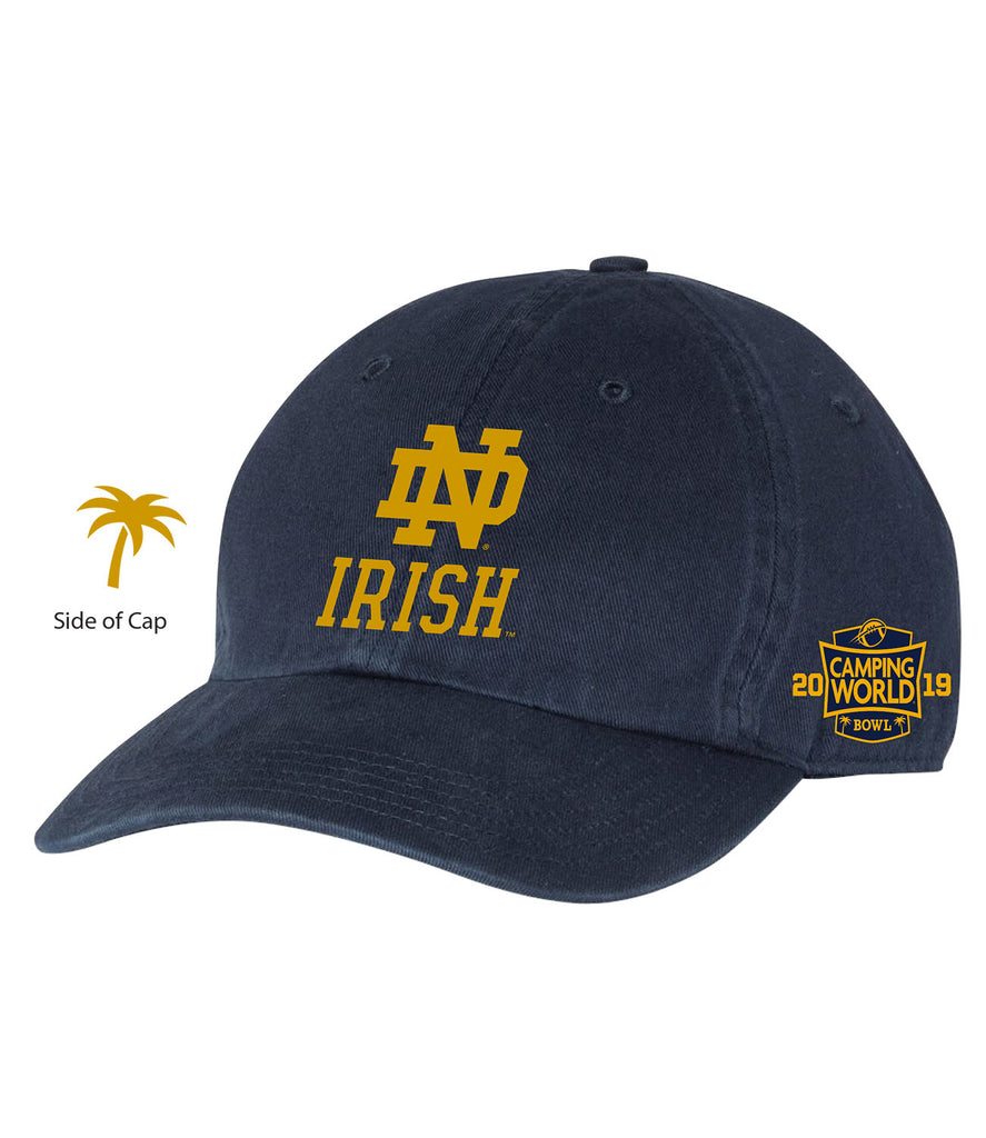 2019 Camping World Bowl Notre Dame Navy Hat