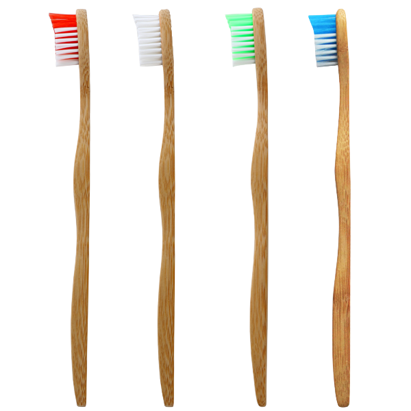 Compostable, biodegradable, sustainable bamboo toothbrushes available at Replenish General Store.