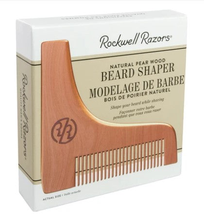 Beard Shaper Comb - Natural Pear Wood | Rockwell Razors