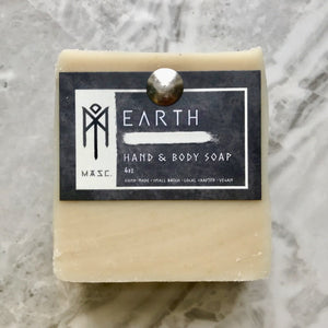 Earth Hand & Body Bar (Masculine) | Charcoal & Rose Petals