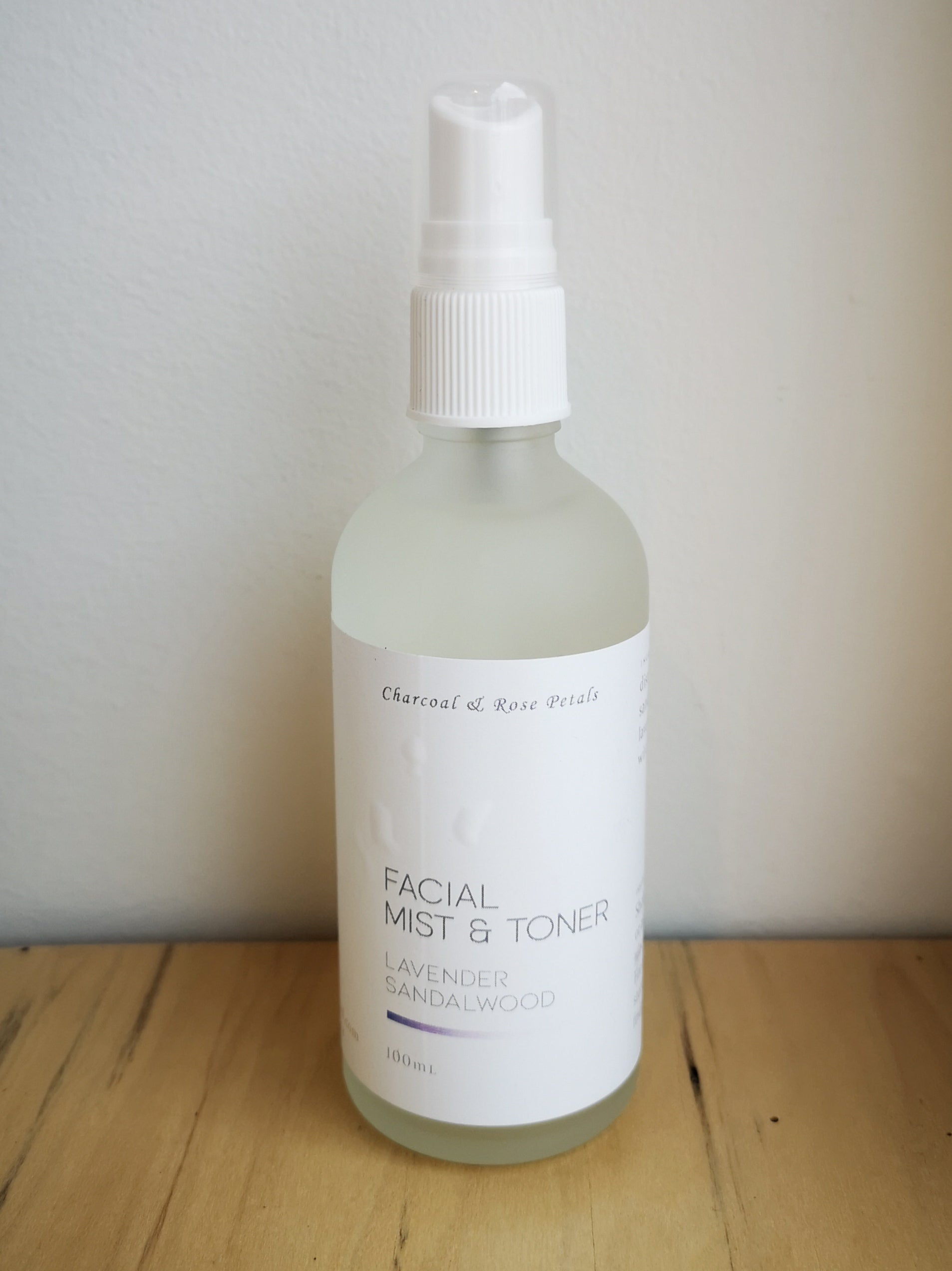 Facial Mist & Toner | Charcoal & Rose Petals
