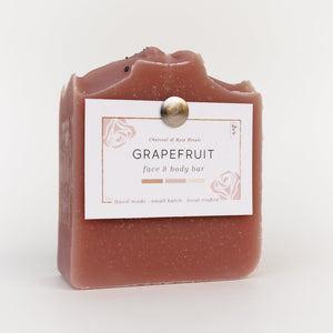 Grapefruit Face & Body Bar | Charcoal & Rose Petals