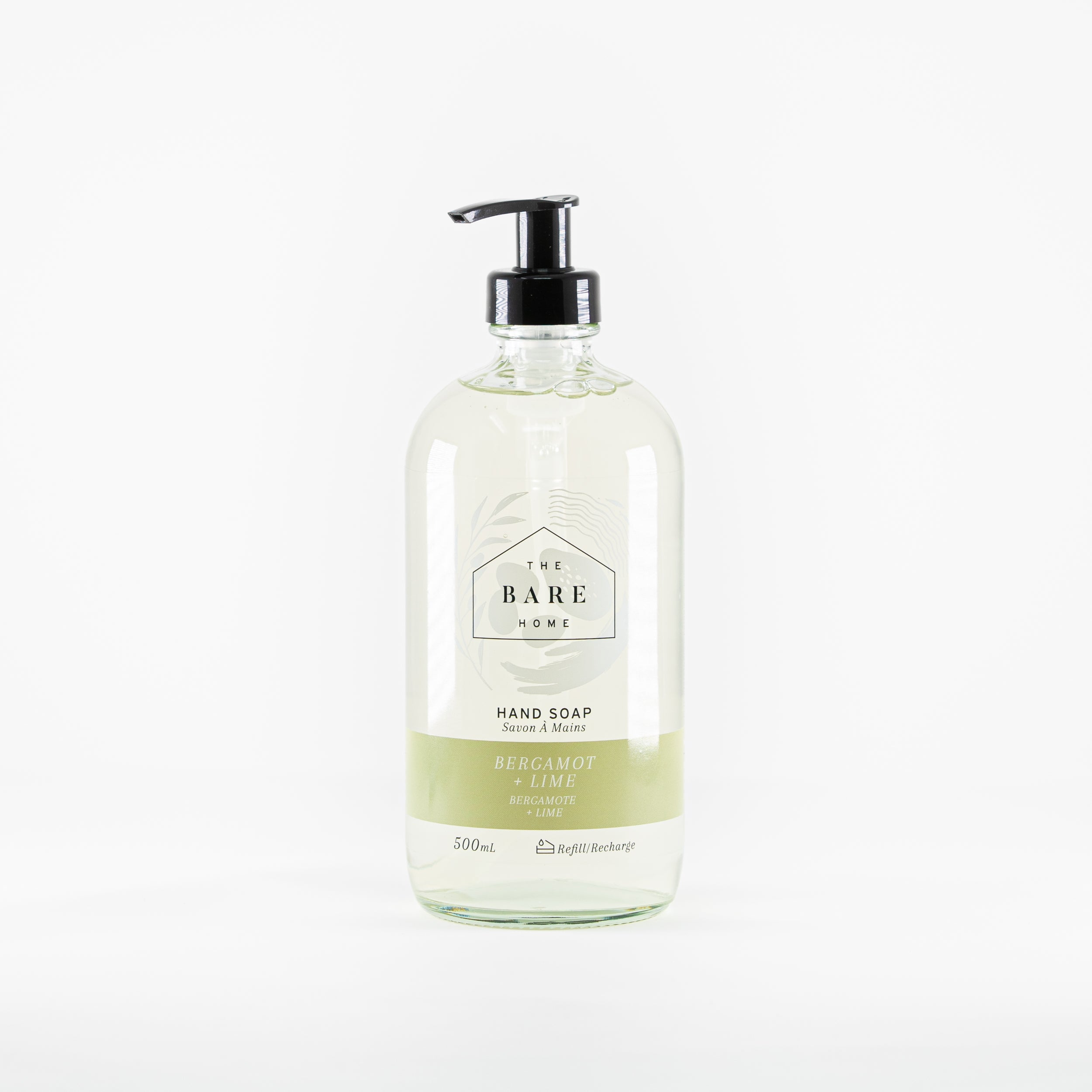 Plant-based hand soap, biodegradable, scented using organic essential oils available at Replenish General Store.