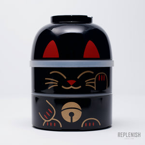 Kokeshi Bento Box - Black Cat
