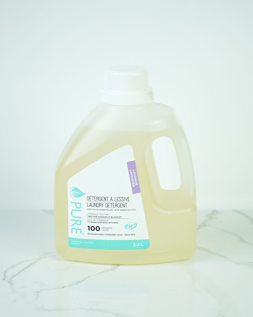 Refill laundry made from a concentrated formula with ingredients that have a positive impact on health and the environment.