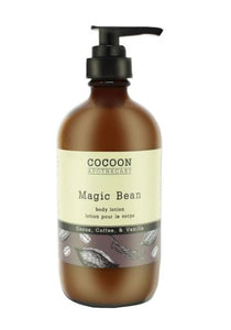 A firming body lotion that combines the rich luxury of plant-based ingredients like organic cocoa butter with skin-softening organic sweet almond oil. This decadent moisturizer, containing the essential oils of coffee and vanilla, melts into your skin leaving it soft, firm and hydrated for the entire day, packaged in a sustainable glass pump bottle.