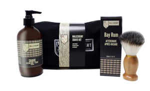 The perfect shave requires a great shaving cream, a shaving brush and a soothing aftershave. This kit has it all. Shave is a foaming lotion with a silky texture that provides the perfect glide and smoothest shave. Our Bay Rum Aftershave soothes skin and refines pores to prevent ingrown hairs and irritation. Made with natural ingredients suitable for sensitive skin