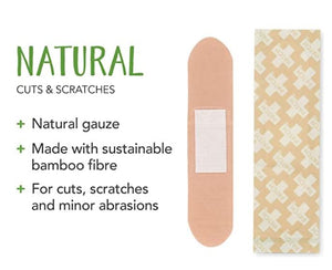 Natural, sustainable, plastic-free bandages available at Replenish General Store.