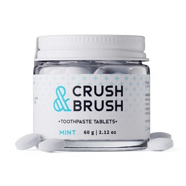 Nelsons Naturals Crush & Brush Mint Toothpaste Tablets (60g)