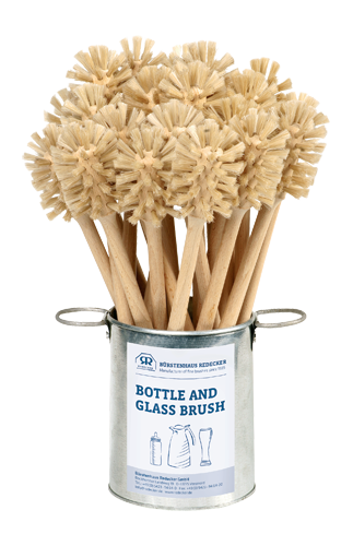 This brush has a special shape that makes it ideal for thorough cleaning of milk bottles, baby bottles, thermal coffee pots, specialty beer glasses, etc. It's a perfect addition to your plastic-free kitchen!