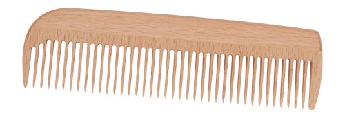 These beautiful wooden combs are manufactured of native beechwood and has anti-static properties.