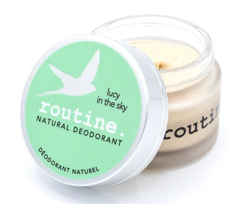 Routine is a natural deodorant in sustainable packaging, made in Canada and available at Replenish General Store.