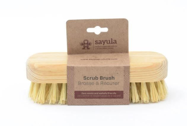 Multi-use around the home, this brush efficiently cleans hard-to-clean dirt with soft bristles that do not damage surfaces. Sayula is a Mexican-Canadian company which provides environmentally and socially responsible bath and kitchen products.