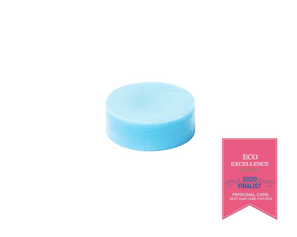 Zero-waste, all-natural conditioner bar for kids to deal with tangles, and knots, and snarls. This conditioner bar is uniquely formulated to support a variety of hair challenges for kids of all ages.