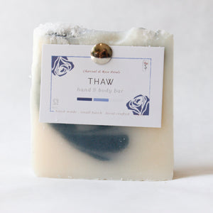 Thaw Face & Body Bar | Charcoal & Rose Petals