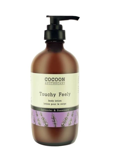A Mediterranean-inspired, organic, plant-based body lotion that has everything you need to keep skin smooth and hydrated. Organic olive oil softens, nourishes, and protects dry skin and combines beautifully with the soothing essential oils of organic lavender and rosemary,  packaged in a sustainable glass pump bottle.