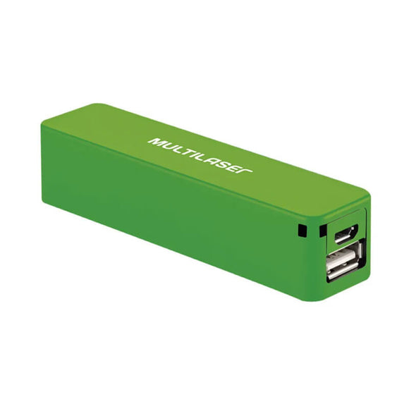 Carregador Multilaser Smartogo Power Bank 2200mah Verde- CB0