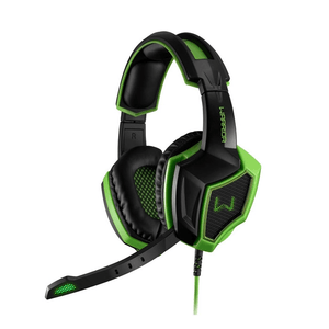 Headset Gamer Multilaser USB 7.1 Preto e Verde Warrior  - PH