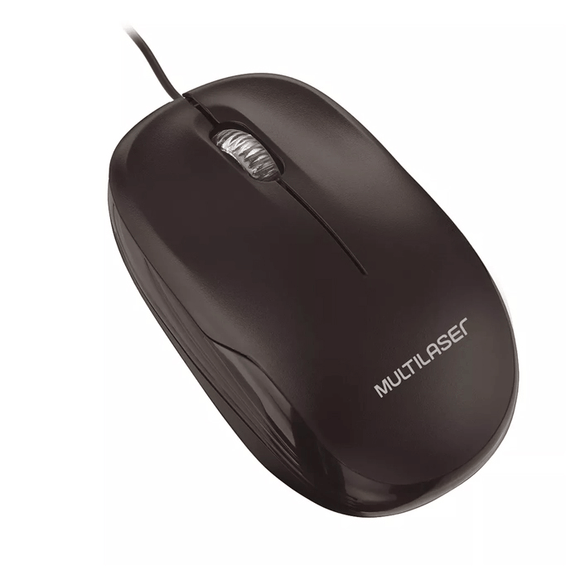 Mouse Box Optico com Fio Preto Usb Multilaser - MO255