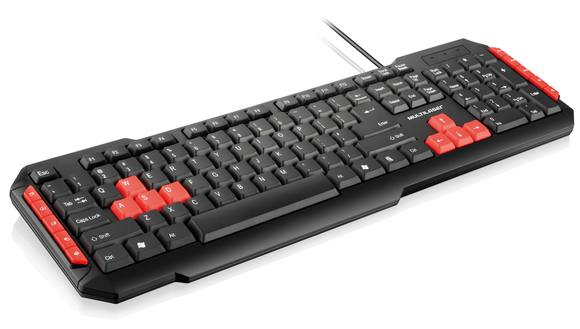 Teclado Gamer Multimídia Red USB Multilaser - TC160