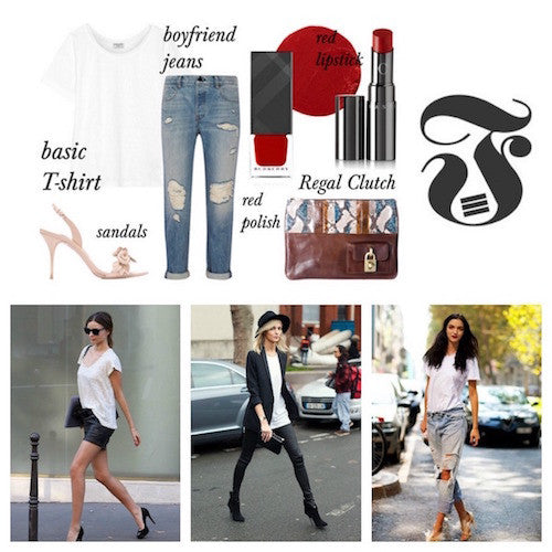How to wear a basic white T-shirt in elegant looks