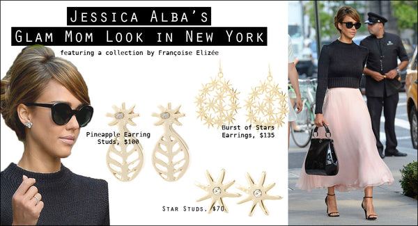 Jessica Alba's Mom Look In New York