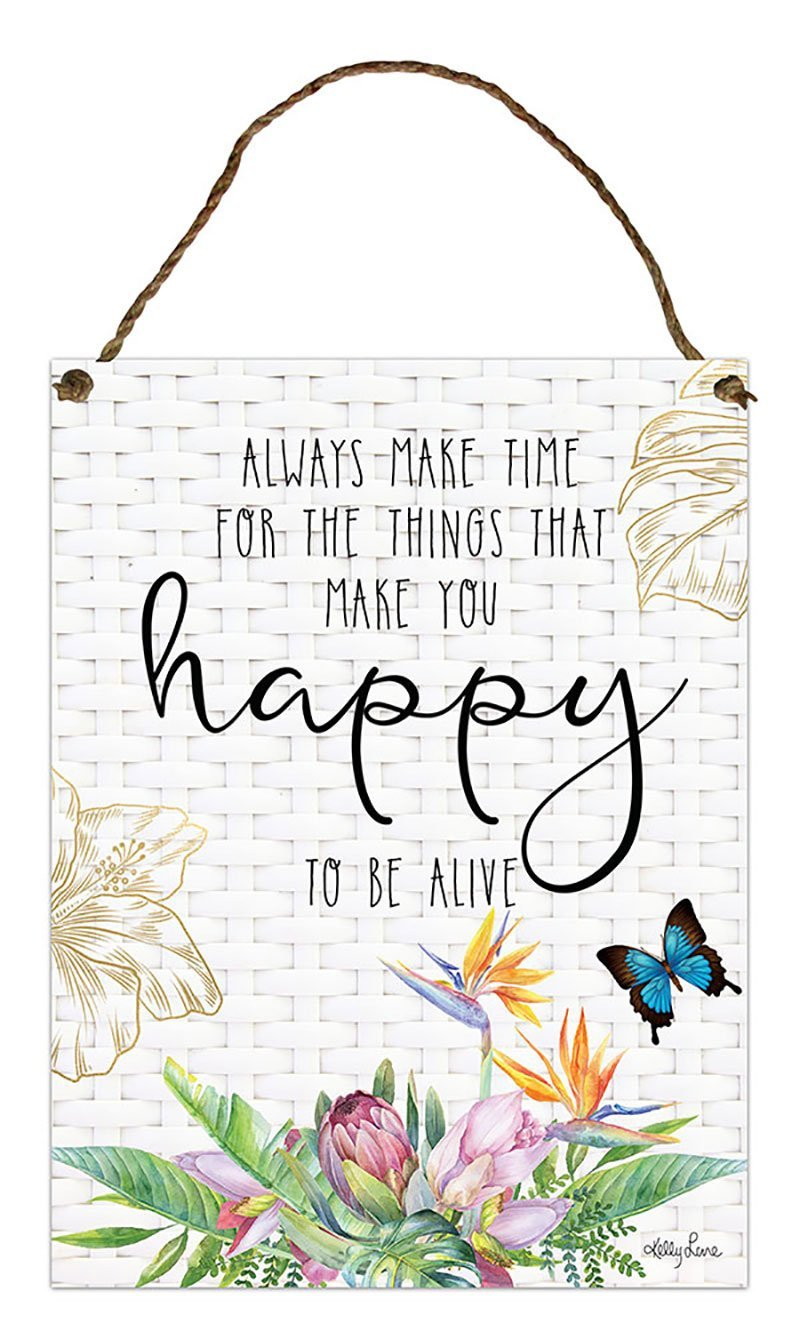 Hanging Tin Sign 30x40 Fiesta HAPPY