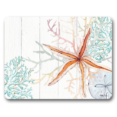 Placemat S/6 34x26.5  Starfish APRICOT
