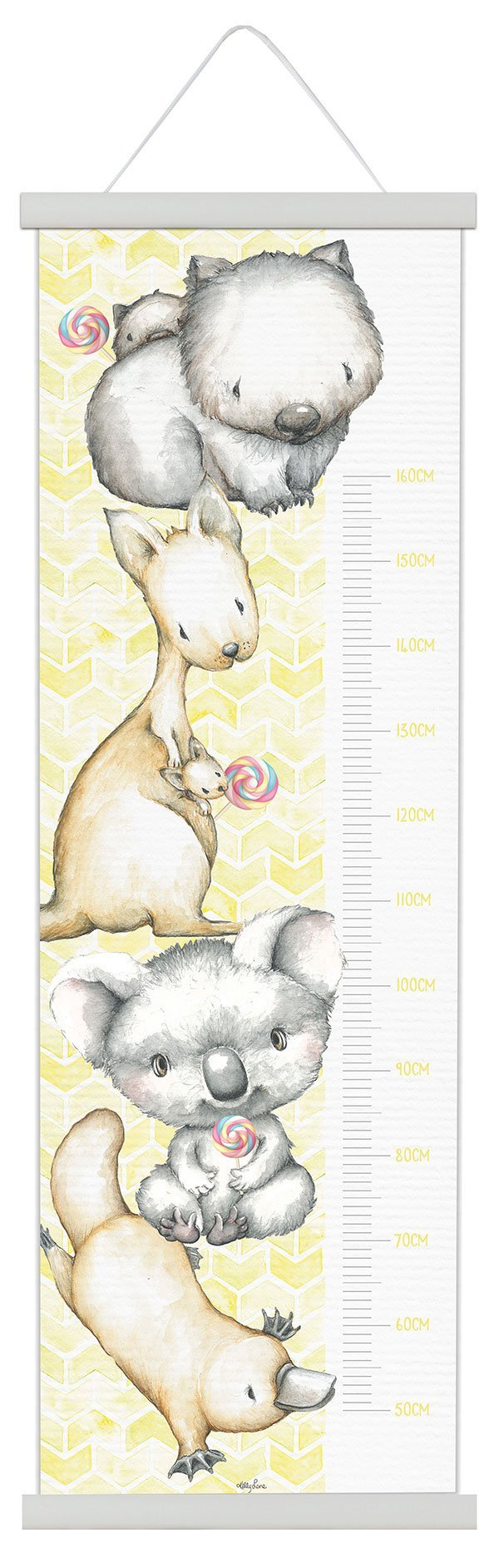 Height Charts 50x150 Critters YELLOW