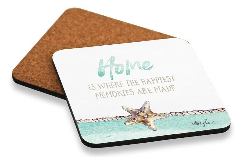 Coaster S/6 10x10cm Sea Turtle HOME