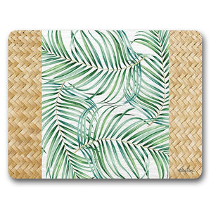 Placemat S/6 29x21.5 Hibiscus PALM