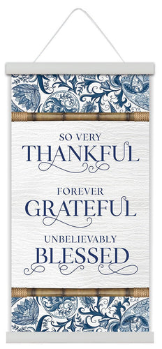 Canvas Scroll 30x60 Chippendale THANKFUL