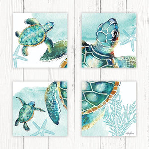 Painting 55x55 Collage Turtles