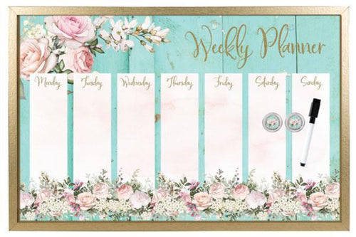 Whiteboard 40x60 English Rose PLANNER