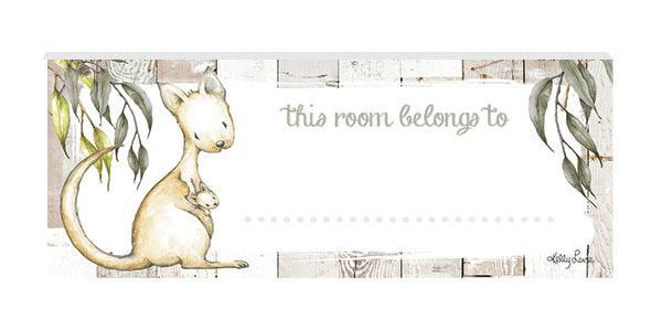 Door Plaque 8x18 3D Baby Joeys KANGAROO