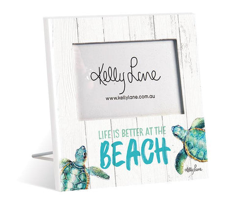 Photo Frame 20x20 6x4 3D Turtles BEACH