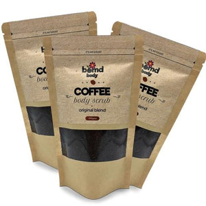 3 x Packs Coffee Body Scrub by Bomd Australia Original Warm Vanilla 200gm pack
