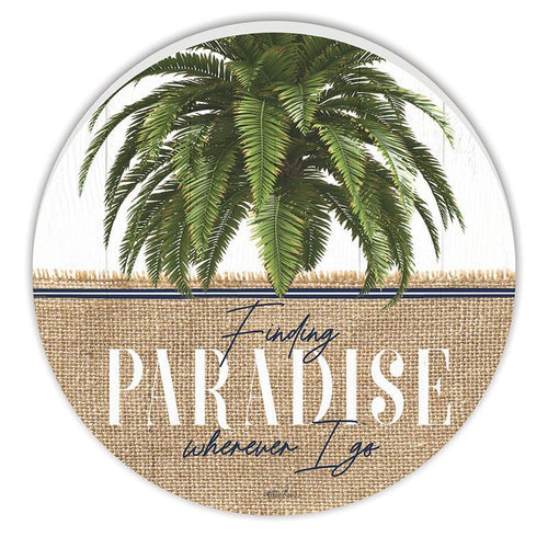 Round Wall Art 48cm Oasis PARADISE